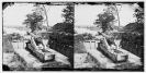 Dutch Gap Canal, James River, Virginia. Confederate battery on James River above Dutch Gap Canal