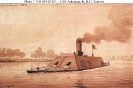 CSS Arkansas (1862-1862)        Sepia wash drawing by R.G. Skerrett, 1904.        Courtesy of the Navy Art Collection, Washington, DC.        U.S. Naval Historical Center Photograph.