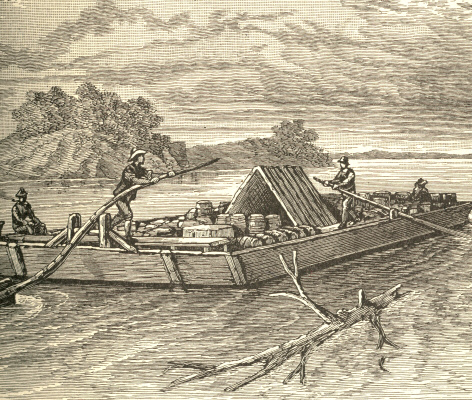 An Ohio River Flat-Boat